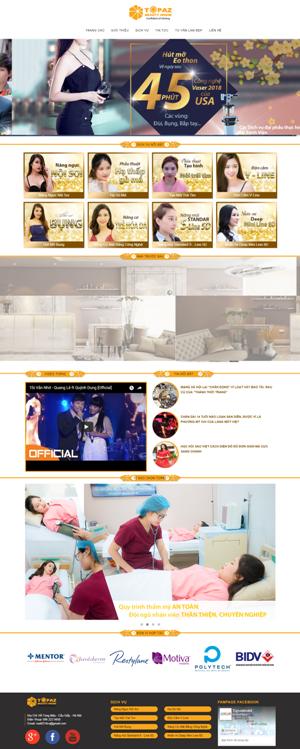 Mẫu giao diện website thẩm mỹ viện Topas