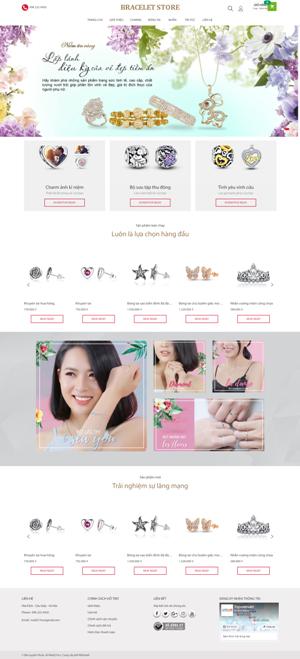 Mẫu giao diện website trang sức Bracelet Store