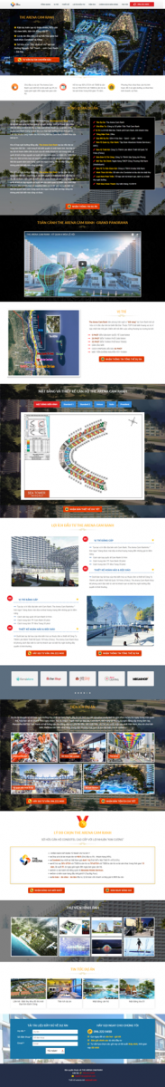 Mẫu giao diện website bất động sản Area Cam Ranh