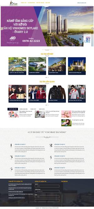 Mẫu giao diện website bất động sản Bookland