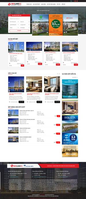 Mẫu giao diện website bất động sản SunlandSG
