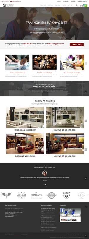 Mẫu giao diện website nội thất The Company