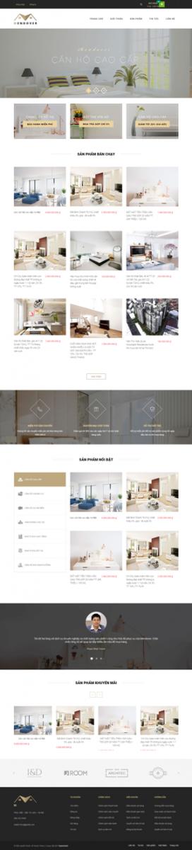 Mẫu giao diện website nội thất Mendover