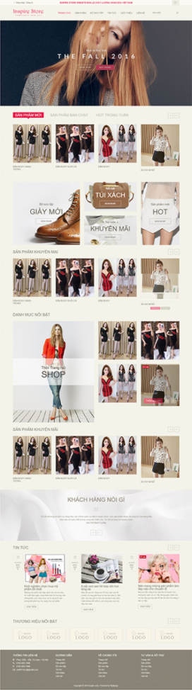 Mẫu giao diện website thời trang Inspire Store