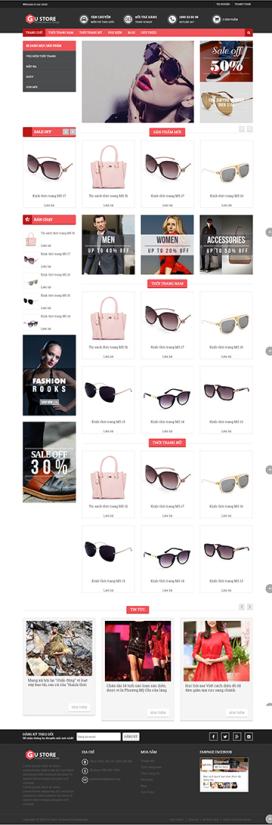 Mẫu giao diện website thời trang Gustore