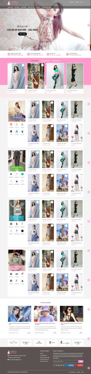 Mẫu giao diện website thời trang Suplo Ladi Fashion