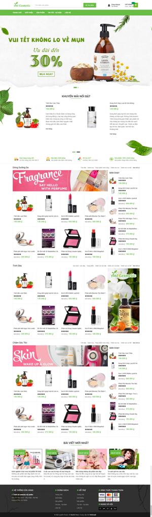 Mẫu giao diện website mỹ phẩm Ant Cosmetic