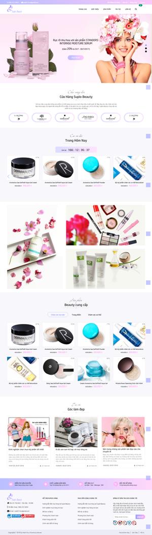 Mẫu giao diện website mỹ phẩm Suplo Beauty