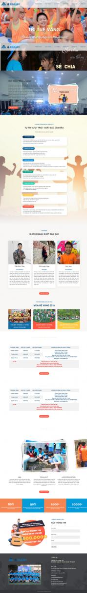 Mẫu giao diện website giáo dục Edulight