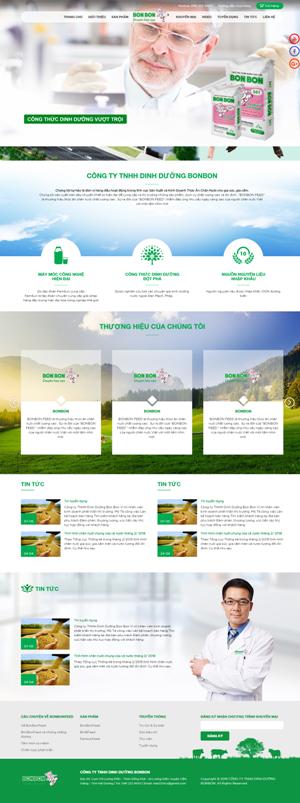 Mẫu giao diện website chăn nuôi Bonbon