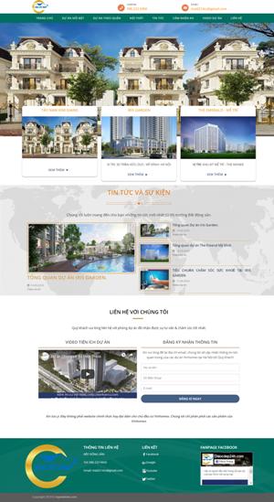 Mẫu giao diện website bất động sản Địa ốc đẹp