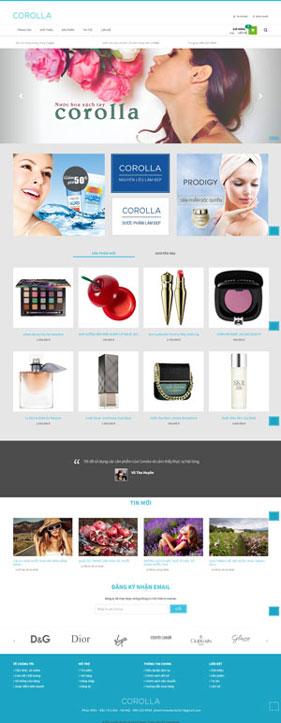 Mẫu giao diện website làm đẹp Corolla