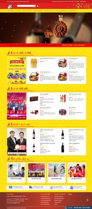 Mẫu giao diện website Quà tết công nhân