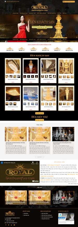Mẫu giao diện website nội thất Đèn hoàng gia