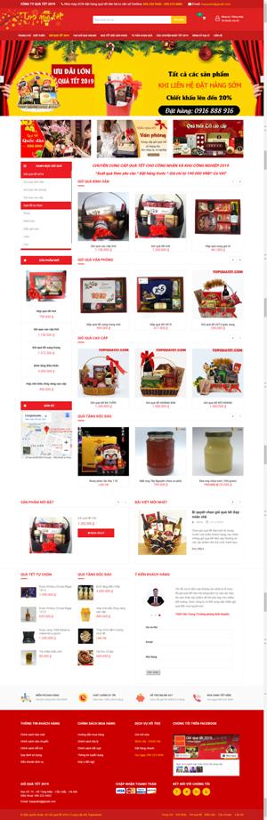 Mẫu giao diện website Top quà tết