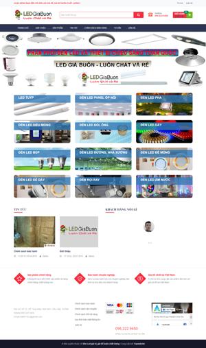 Mẫu giao diện website nội thất Led giá buôn