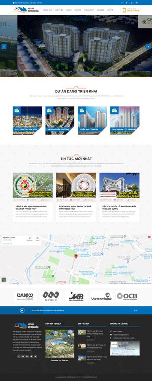 Mẫu giao diện website bất động sản Kênh kết nối