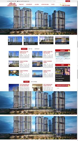 Mẫu giao diện website bất động sản Chung cư Hà Nội