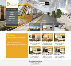 Mẫu giao diện website bất động sản Masteri