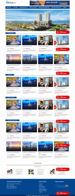 Mẫu giao diện website bất động sản Nhà Dĩ An 24h