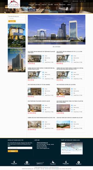 Mẫu giao diện website bất động sản Egaland