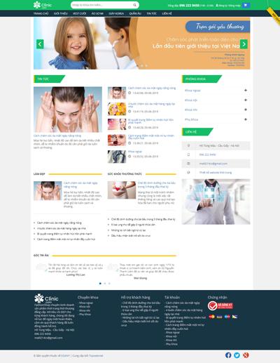 Mẫu website phòng bệnh đa khoa Clinic