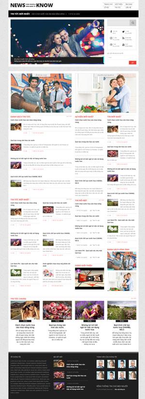 Mẫu giao diện website tin tức News Know