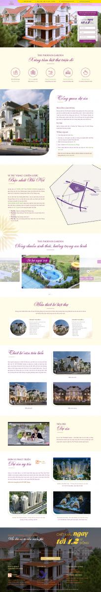 Mẫu giao diện thiết kế website bất động sản The Foenix Garden