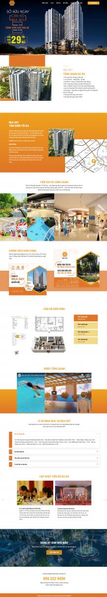 Mẫu giao diện thiết kế website bất động sản Beasky
