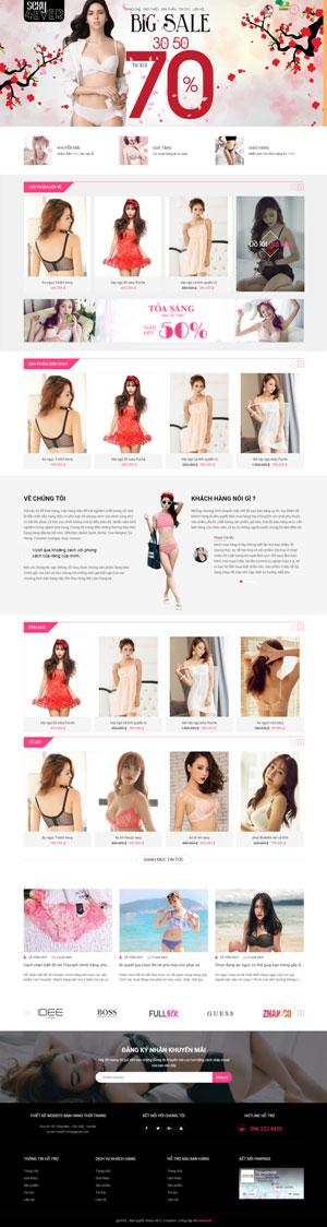 Mẫu giao diện website thời trang Sexy4ever