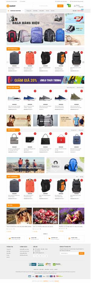 Mẫu giao diện website thời trang Smarket