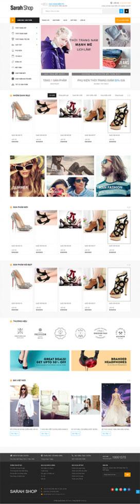 Mẫu giao diện website thời trang Sara Shop