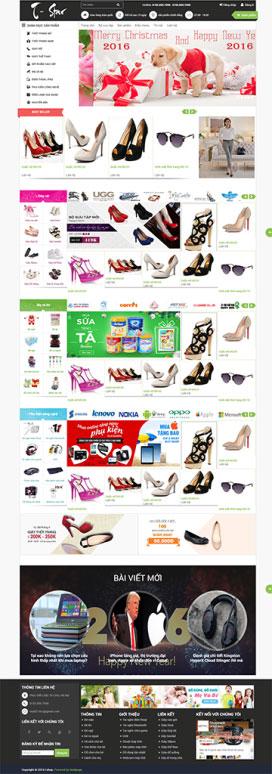 Mẫu giao diện website thời trang T-Star
