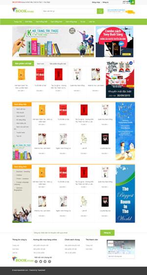 Mẫu giao diện website bán sách Book Store