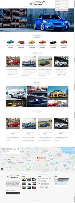 Mẫu giao diện website bán ô tô CarPro 18