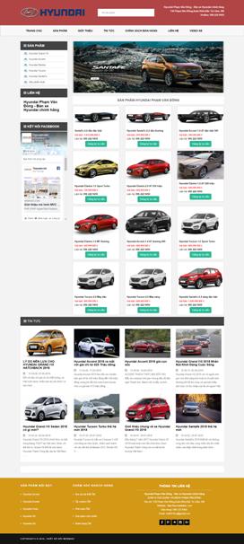 Mẫu giao diện website bán ô tô Hyundai Phạm Văn Đồng